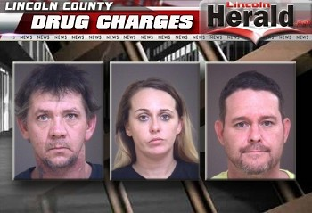 (L-R) James William Canipe Jr., Haley Kristen Gantt, and Bruce Edward Thomas Jr.