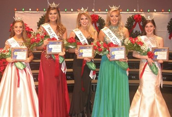 (L-R) Miss Gastonia's Outstanding Teen Allie Stafford, Miss Gastonia Brianna Rochford, Miss Mount Holly Lindsey Woodward, Miss Gaston County Mandy Rogers, and Miss Gaston County's Outstanding Teen Jaylen Holt.