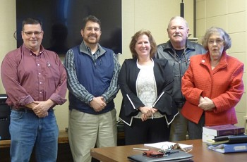 Lincoln County's new Elections Board:  Wayne Mitchem, Brian Crisson, Candy Dellinger, Don Wise, Judy Caudill