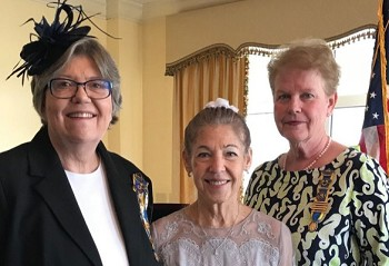(L-R) Retiring Chapter President Melanie Campbell Ford, pianist Joyce O'Neal and incoming Chapter President Tammy Wilson.(Photo Courtesy National Society Colonial Dames 17th Century)