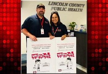 Toys for Tots representatives are passing out boxes to area businesses for the 2019 toy collection.