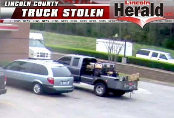 The vehicle is described as a gray 2012 Ford F350 with a flat bed.  The truck has a South Dakota registration plate of 1AW323.(Photo Courtesy Lincoln County Sheriff's Office)