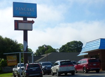 The Pancake House in Shelby didn't wait until 5 PM Friday; they reopened their dining room on Thursday.