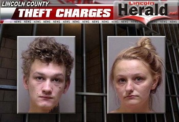 (L-R) Terry Edwin Walker and Samantha Breeze Ginestri(Photos Courtesy Lincoln County Sheriff's Office)