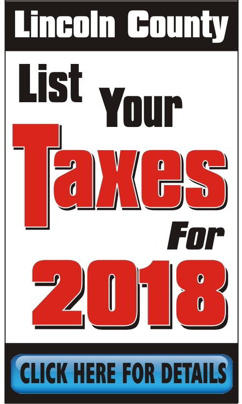 Lincoln County Tax Dept Taxes 2018