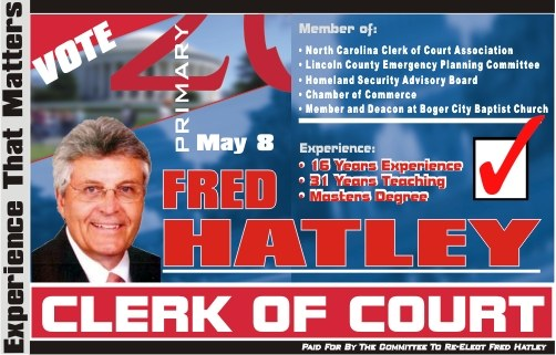 Fred Hatley 2018 Primary