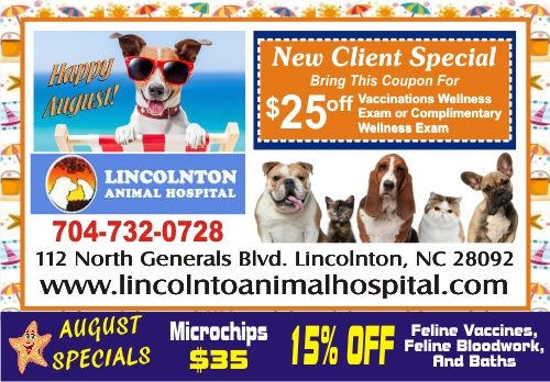 1-Lincoln Animal Hospital 500 AUGUST SPECIAL