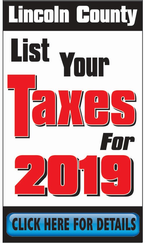 Lincoln County Tax Dept. - List Taxes 2019